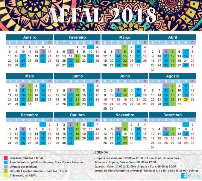 Calendario AEFAL 2018_segunda versao
